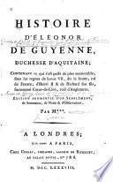 Histoire d'Éléonor de Guyenne, duchesse d'Aquitaine
