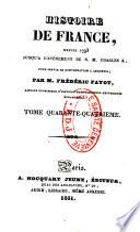 Histoire de France, depuis 1793 jusqu'à l'avénement de S. M. Charles X, pour servir de continuation à Anquetil