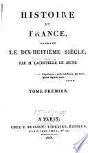 Histoire de France pendant le 18e siècle