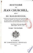 Histoire de Jean Churchill, duc de Marlborough
