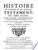 Histoire de l'ancien et du nouveau testament, et des juifs, pour servir d'introduction à l'histoire ecclesiastique de l'abbé Fleury
