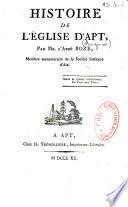 Histoire de l'église d'Apt