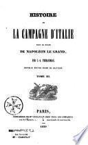 Histoire de la campagne d'Italie sous le règne de Napoléon le Grand
