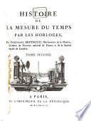 Histoire de la mesure du temps par les horloges