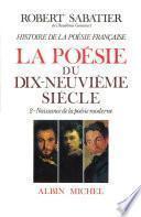 Histoire de la poésie française - Poésie du XIXe siècle -