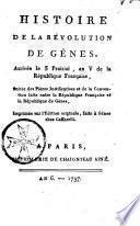 Histoire de la révolution de Gênes arrivée le 3 prairial an V...