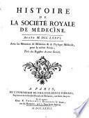 Histoire de la Société Royale de Médecine