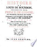 Histoire de Louis de Bourbon Second de ce nom