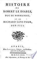 Histoire de Robert le Diable