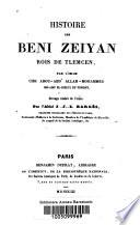 Histoire des Beni Zeiyan, rois de Tlemcen