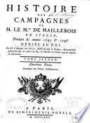 Histoire des campagnes de M. le m.al e Maillebois en Italie