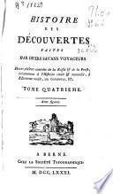 Histoire des decouvertes faites par divers savans voyageurs