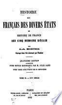 Histoire des Français des divers états