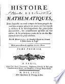 Histoire des mathématiques, dans laquelle on rend compte de leurs progrès depuis leur origine jusqu'à nos jours