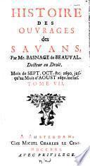 Histoire des ouvrages des Savans