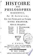 Histoire des philosophes modernes