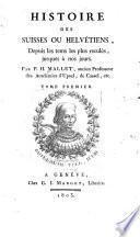Histoire des Suisses ou Helvetiens