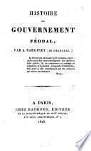 Histoire du gouvernement féodal