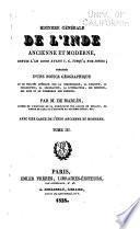Histoire générale de l'Inde ancienne et moderne, depuis l'an 2000 avant J. C. jusqu'à nos jours