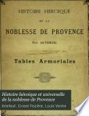Histoire héroique et universelle de la noblesse de Provence