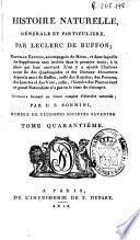 Histoire naturelle generale et particuliere