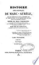 Histoire philosophique de Marc-Aurèle avec les pensées de ce prince