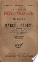 Hommage ŕ Marcel Proust (1871-1922) N' 112 (Janvier 1923)