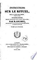 Instruction sur le rituel par feu...publié par ordre de Mgr De Lascaris Evêque de Toulon, et de Mgr Moreau, Evêque de Mâcon