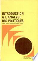 Introduction à l'analyse des politiques