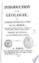 Introduction à la géologie ou à l'histoire naturelle de la terre