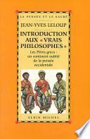 Introduction aux « vrais philosophes »