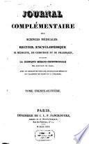 Journal complémentaire des sciences médicales