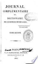 Journal complémentaire du Dictionnaire des sciences medicales