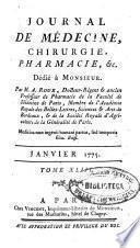 Journal de médecine, chirurgie, pharmacie, & c