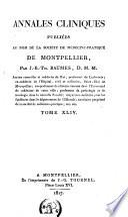 Journal de médecine, de chirurgie et de pharmacie ou annales de la Société de médecine-pratique de Montpellier