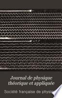 Journal de physique théorique et appliquée