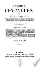 Journal des avoués, ou recueil général des lois ...