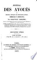 Journal des avoués, ou recueil general ...