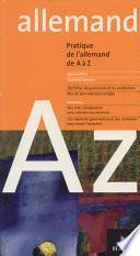 L'allemand de A à Z