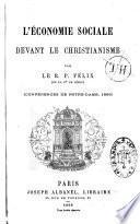 L'économie sociale devant le christianisme