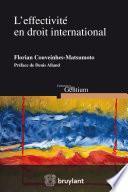L'effectivité en droit international