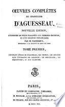 L'éloge de d'Aguesseau, par Thomas. Discours pour l'ouverture des audiences. Mercuriales. Réquisitoires. Plaidoyers