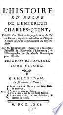 L'histoire du règne de l'empereur Charles-Quint