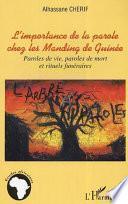 L'importance de la parole chez les Manding de Guinée