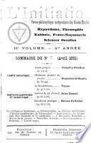 L'initiation ; hypnotisme, théosophie, kabbale, science occulte, franc-maçonnerie
