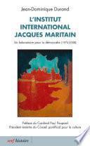 L'Institut international Jacques Maritain