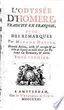 L'Odyssee d'Homere. Livr. I-VII. Tome Premier (etc.)