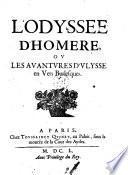 L'Odyssee d'Homere ou les aventures d'Ulysse en vers burlesques