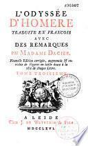 L'Odyssée d'Homère traduit en françois par Madame Dacier