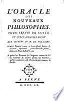L'oracle des nouveaux philosophes
